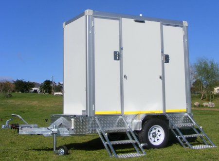 VIP Portable Toilet- Double Trailer
