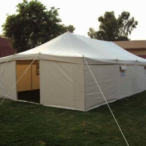Canvas Tent 5m x 10m Hip Roof